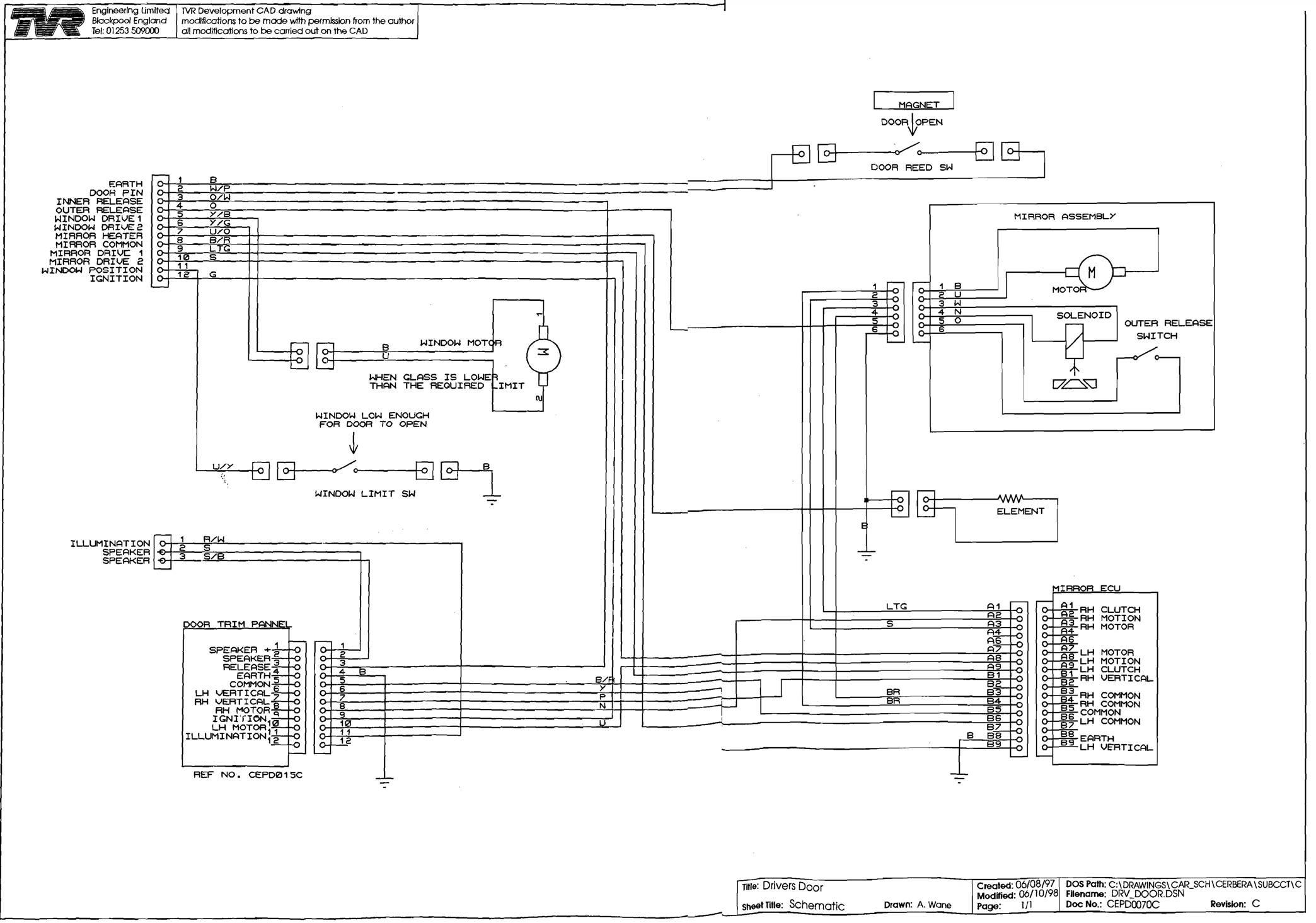 Wiring Diagrams Door Harness Diagram Cs