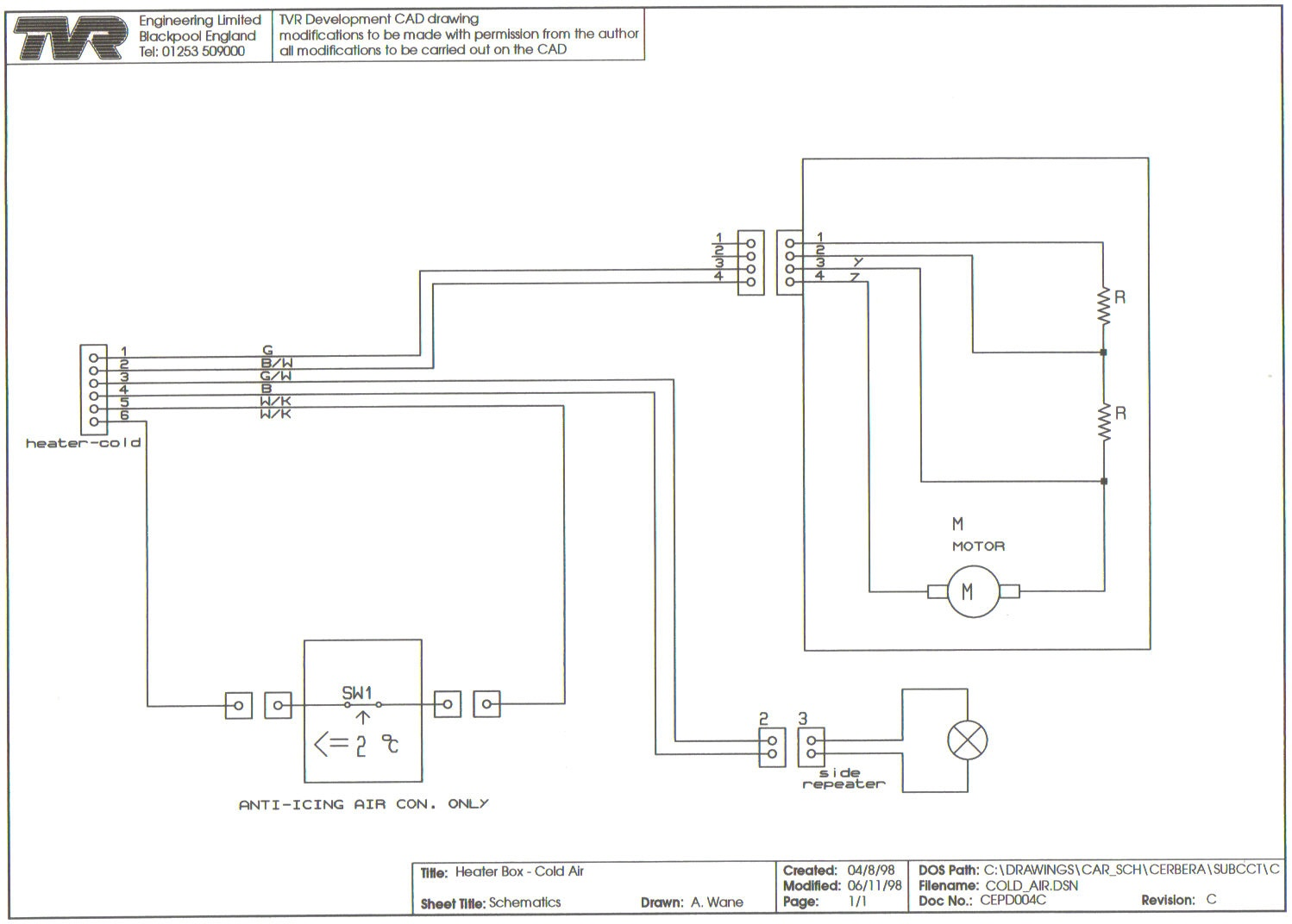 Wiring Diagrams 3 Position Fuse Box Cold Air