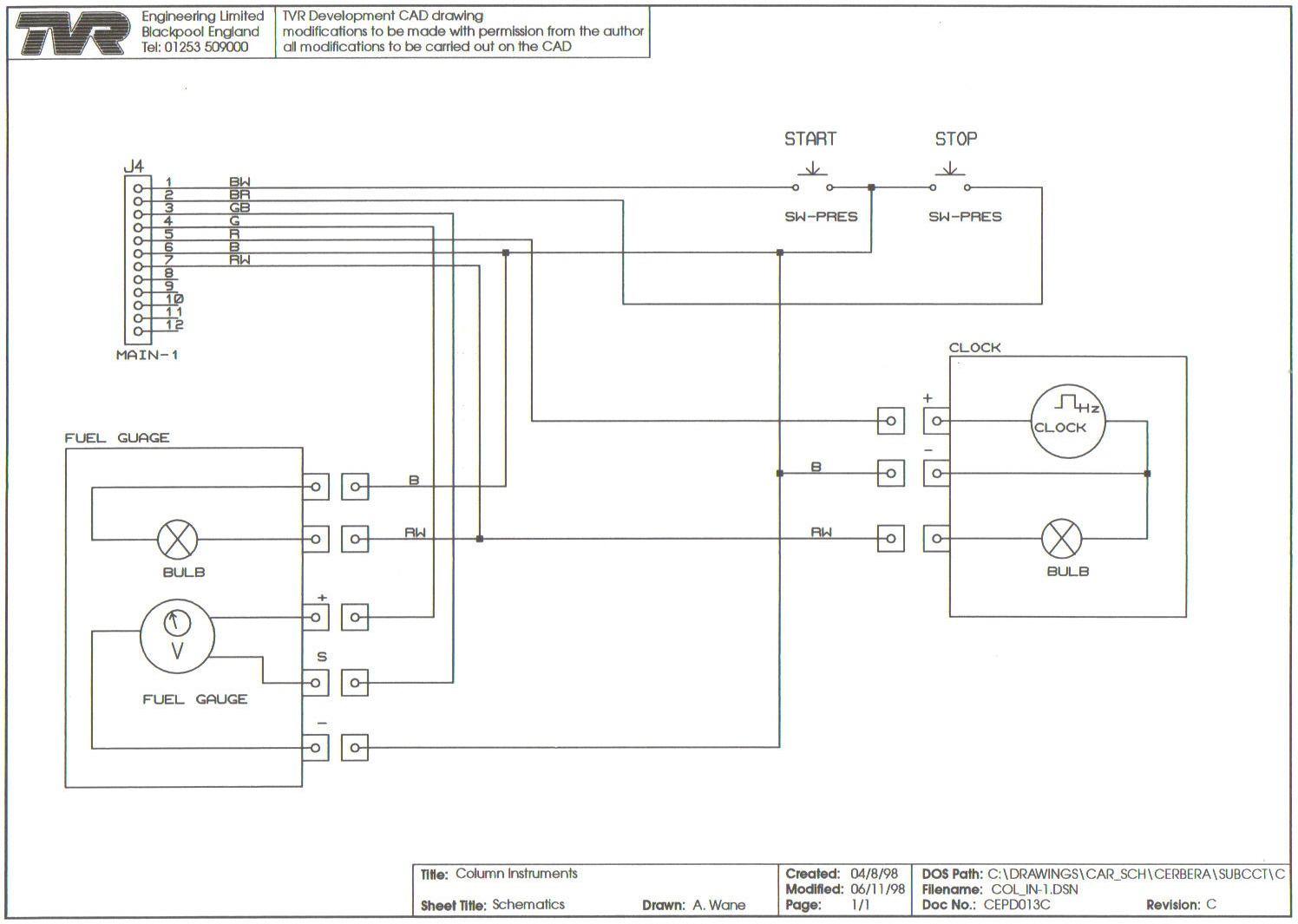 cepd013 Intstrument Column cepd013 intstrument column jpg tvr chimaera wiring diagram at webbmarketing.co