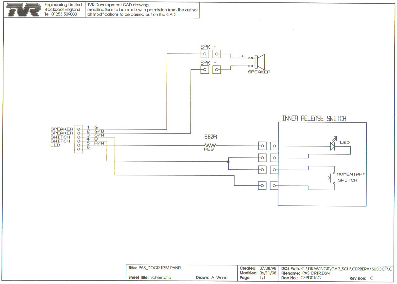 Wiring Diagrams Zafira Rear Door Harness Passenger Cs