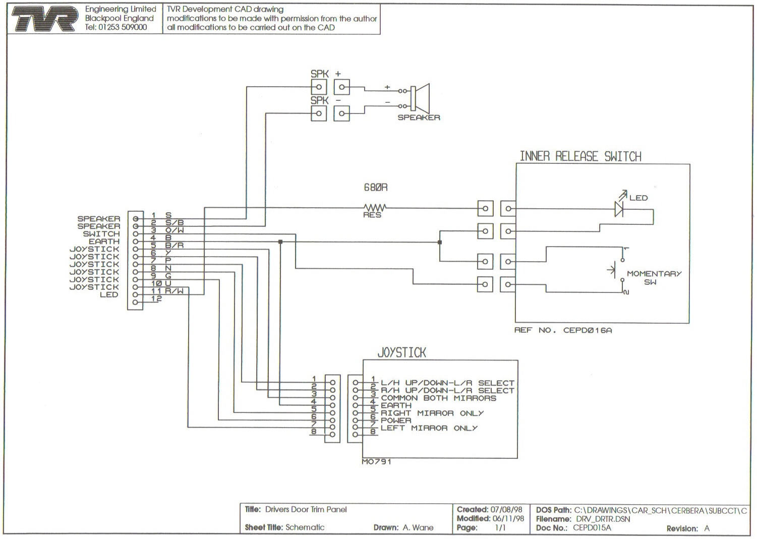 Wiring Diagrams Fuse Box Ons Drivers Door